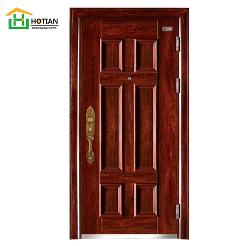 China manufacturer professional anti-theft steel security door exterior front doors turkish fire-proof safety design on China WDMA