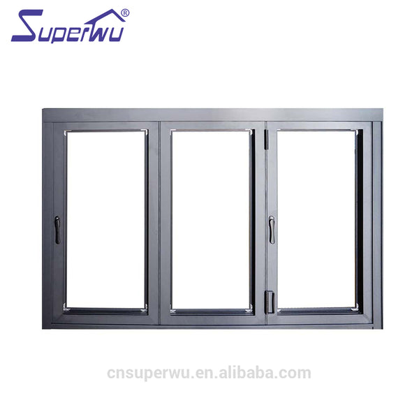 China product tempered glass aluminium electric house folding windows on China WDMA
