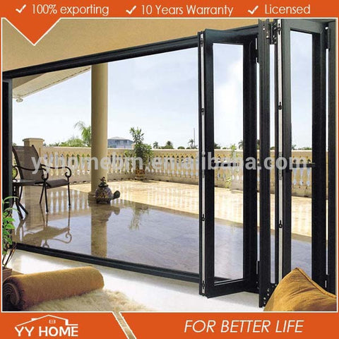 China supplier YY Home exterior aluminium bi-folding doors on China WDMA