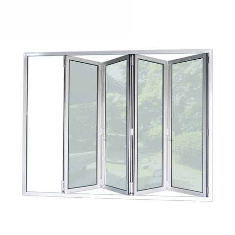 China supplier aluminium folding sliding exterior patio glass doors easy to install on China WDMA