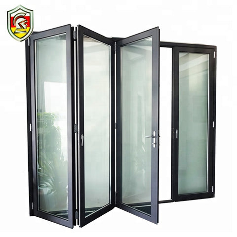 China supplier front house exterior double lowes glass accordion bifold door on China WDMA