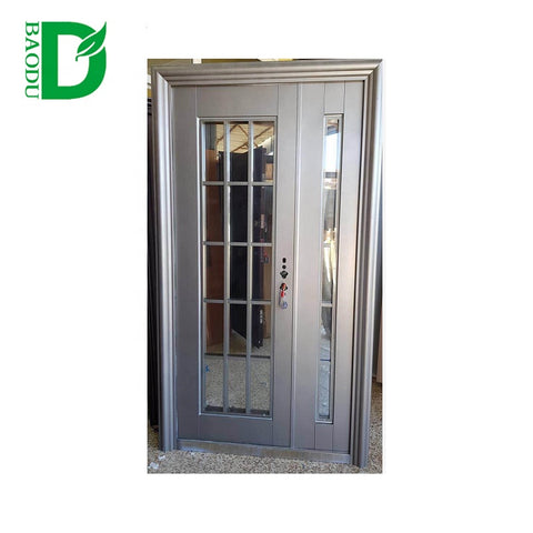 China supplier security steel door apartment main gate design folding security gate on China WDMA