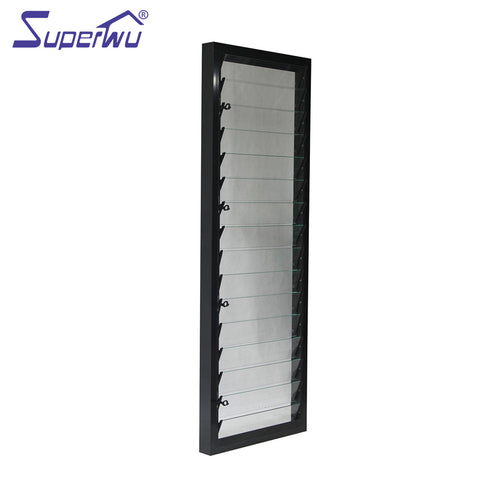 China top latest aluminum glass louvre blades windows on China WDMA