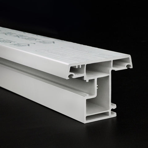 Chinese factory manufacturer raw materials white upvc windows&doors profiles on China WDMA