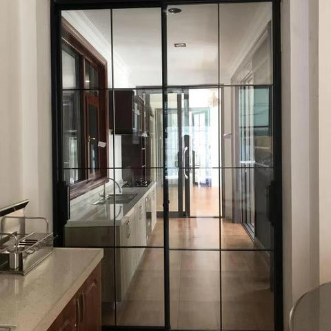 Chinese slim soundproof 4 panel aluminium glass sliding patio door on China WDMA