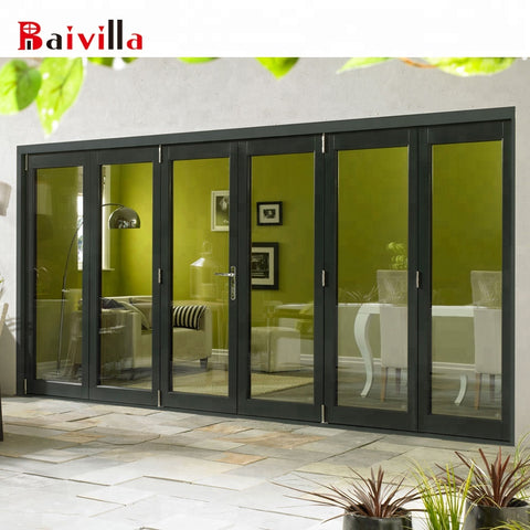 Chinese top quality finished external bi-fold doors on China WDMA