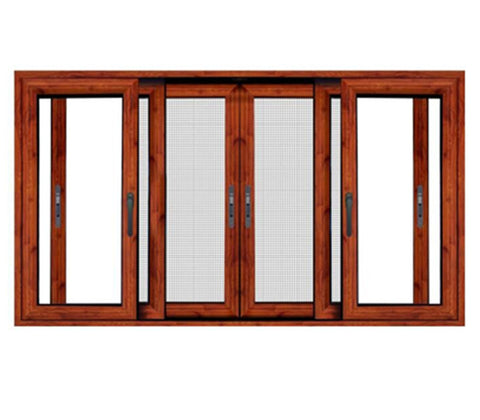 Classic Style Aluminum Sliding Doors And Windows With Accordion Screen Windows on China WDMA