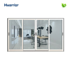 Clear Color Thermal Break Double Hung Aluminium Frame Sliding Glass Window on China WDMA