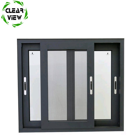Clearview Furnishing tempered glass screen hurricane resistant office aluminum sliding window on China WDMA