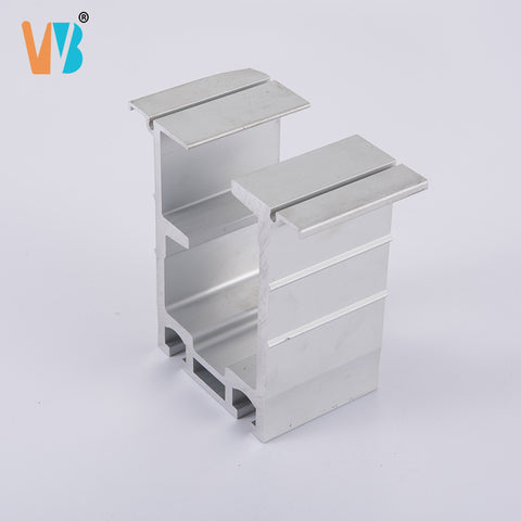 Commercial Furniture Movable Partition Wall Sliding Door Track Aluminum Profile on China WDMA