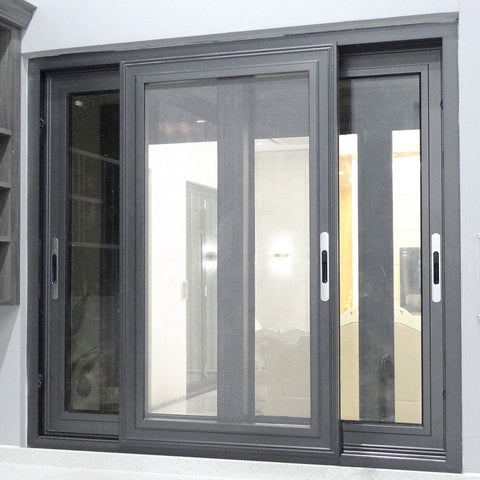 Commercial Windows Frames,Aluminum Alloy Triple Track Sliding Window on China WDMA