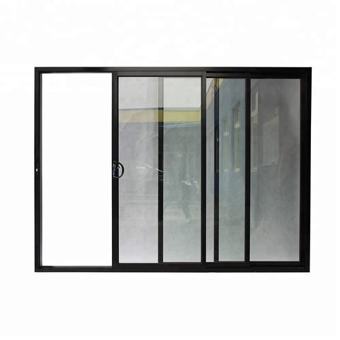 Commercial and Home 3 panel tempered safety glass aluminium profile sliding door on China WDMA