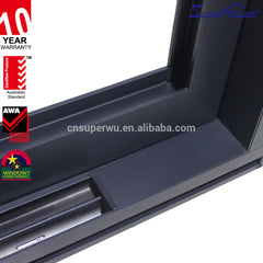 Commercial system black curved aluminium sliding window on China WDMA