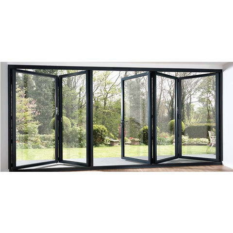 Commercial system glass aluminum bi folding accordion window on China WDMA