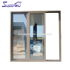Commercial system triple glass aluminum price of fire rated sliding door installation to divide room on China WDMA