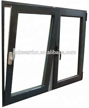 Commercial tempered glass aluminium casement window shutters exterior