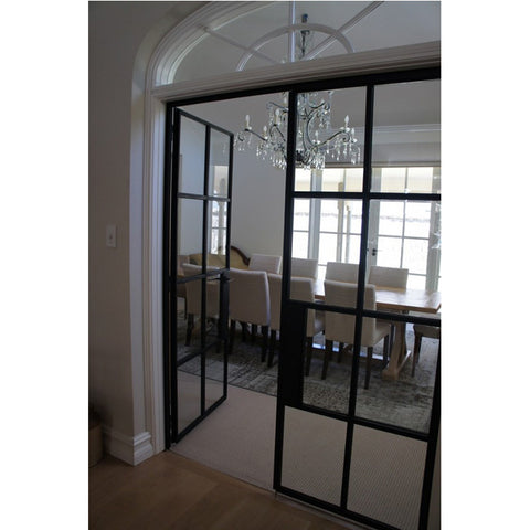 Competitive price swing interior steel french doors on China WDMA