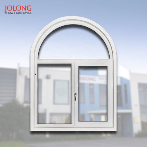 Curved window design special customised Casement Tilt and Turn residential architectural double GLASS TEMPERED on China WDMA
