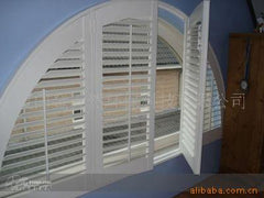 Custom Plantation Shutter for Half-Circle Window