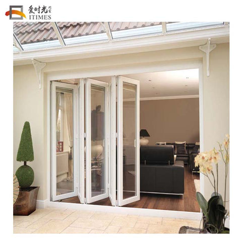 Custom aluminium patio bifolding glass screen door exterior,custom folding door for restaurant on China WDMA