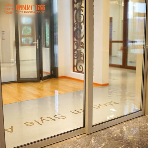 Custom designs commercial aluminum alloy single glass sliding doors and window on China WDMA