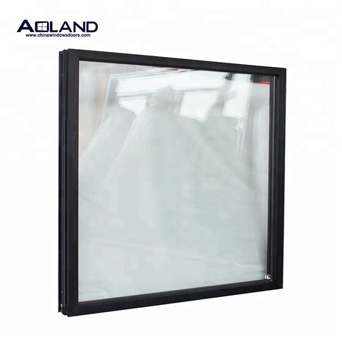Custom impact resistant fixed double / triple glazing windows American latest design anti-noise