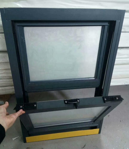 Custom made high quality american style double pane aluminium vertical sliding single hung window on China WDMA