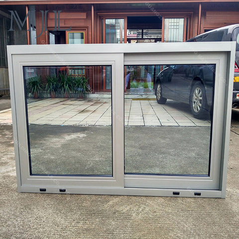 Custom size silver interior aluminum sliding window frame price philippines on China WDMA