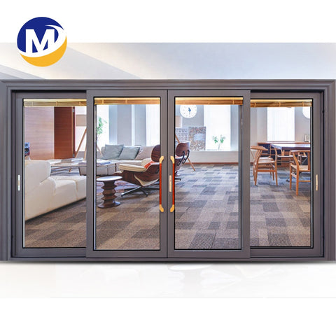 Customization options glass sliding door standard size for patio doors with durability aluminum frame series on China WDMA