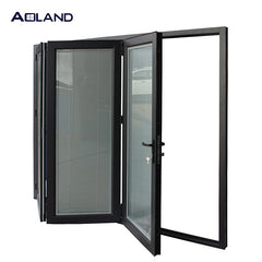 Customize bi fold doors windows for bathroom with blinds on China WDMA