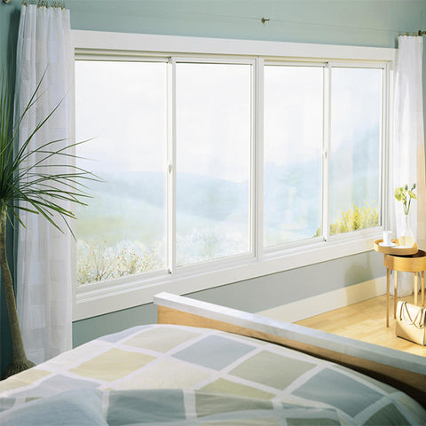 Customized UPVC/PVC windows double glazed, single hung glass window on China WDMA
