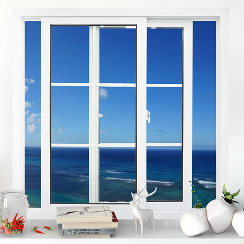 Customized upvc/ pvc/ plastic glass sliding window for living room on China WDMA