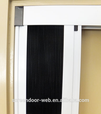 DIY screens sliding mosquito protection retractable mesh screen door on China WDMA