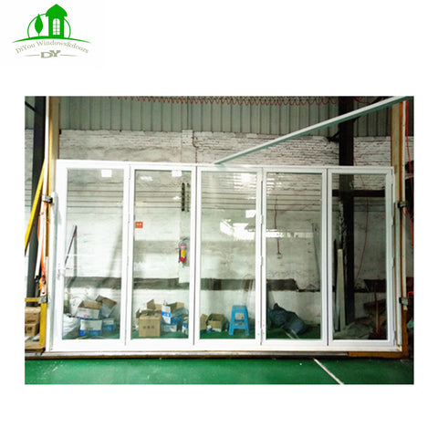 DY 633 Open Style Aluminum Balcony Patio Folding Door With Foldable Glass on China WDMA