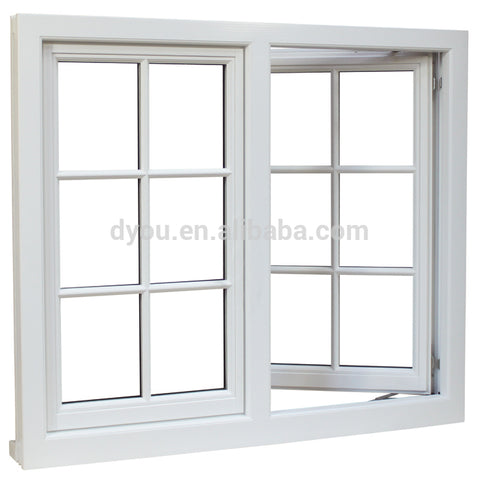 DY Aluminium Alloy Framed Lowes French Casement Window For 30 Years on China WDMA