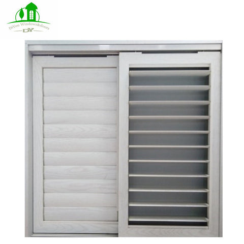 DY Aluminum Louvered Shutters Sliding Doors And Windows With Glass And Screen For Office on China WDMA