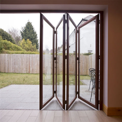 DY Aluminum Thermal Break Bi-folding French Door With Glass For Patio on China WDMA