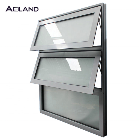 Decorative aluminum awning window design replacement windows customized size on China WDMA