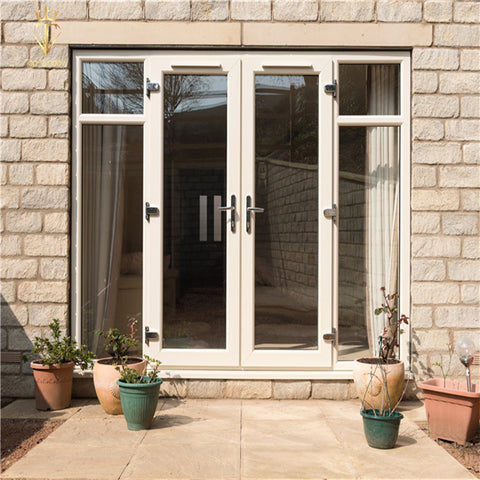 Decorative double Glass Casement Swing Exterior Patio French Upvc Doors on China WDMA