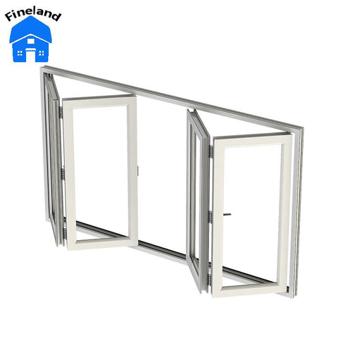 Design Balcony Bifolding Glass Folding Window on China WDMA