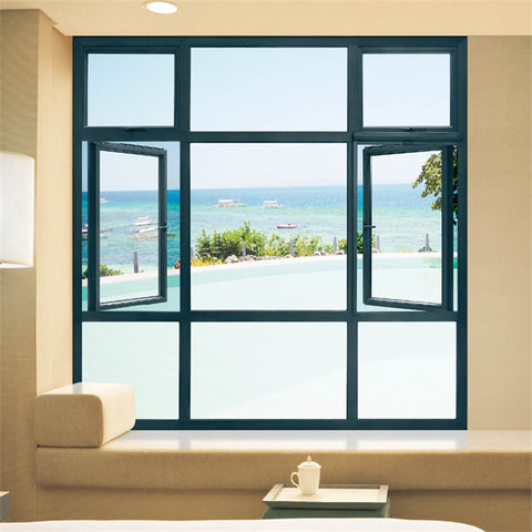 Design High Quality Interior Office Villa Applied Iron Grills Modern House Aluminum Casement Window Jalousie Windows on China WDMA