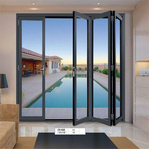 Design Interior Office Germany Aluminum House Gate Designs Solid Glass Exterior Folding Patio Door on China WDMA
