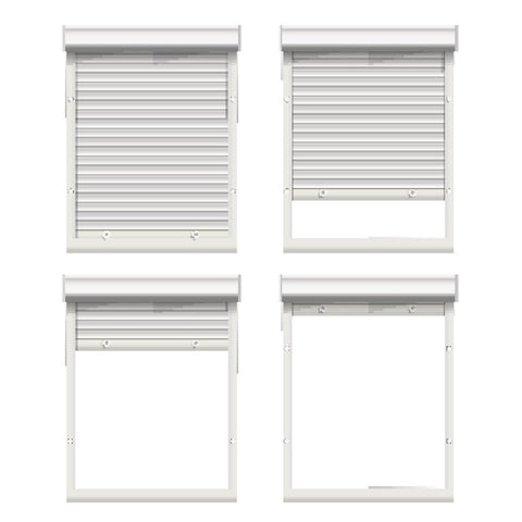 Design Smart Security Exterior Storm Roller Blinds Aluminum Window Shutter on China WDMA