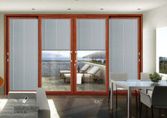 Dimension Customized Kitchen Aluminum Glass With Inside Blinds Sliding Door on China WDMA