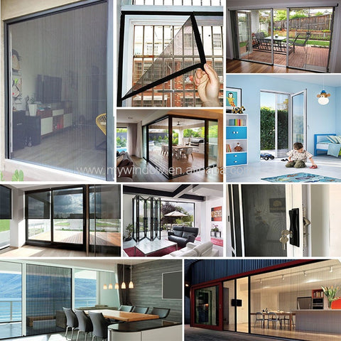 Diy retractable fly insect screen fiberglass net mesh magnetic window mosquito screen on China WDMA