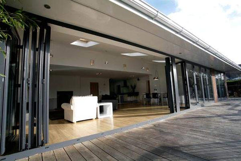 Doha Safety Soundproof Indoor Living Room Bi Bifold Door Accordion Interior Glass Aluminum Folding Doors on China WDMA