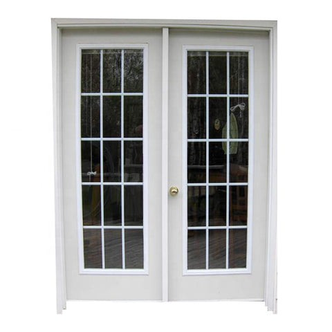 Double Glass Front Aluminium Out Swing Patio Doors Residential Exterior French Casement Door Price on China WDMA