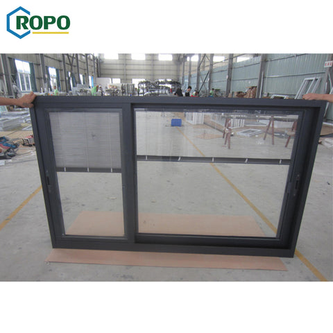 Double Glaze Aluminum Hurricane Impact Resistance Slide Windows And Door With Grill Design on China WDMA