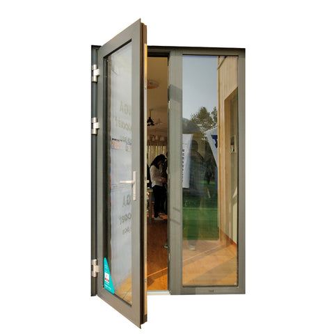 Double Glazed Thermal Break French Aluminum Casement Door on China WDMA