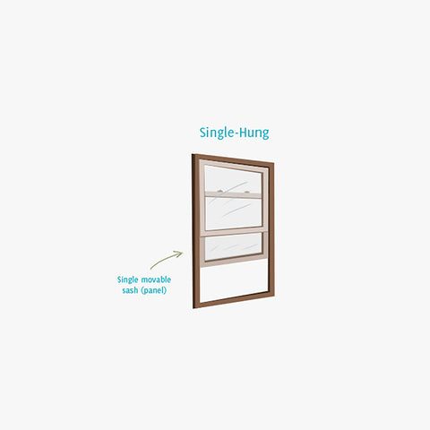 Double Glazing Aluminum Double Hung Window Single Hung Windows on China WDMA